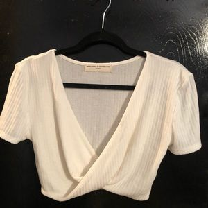 White Crop Top - Urban Outfitters